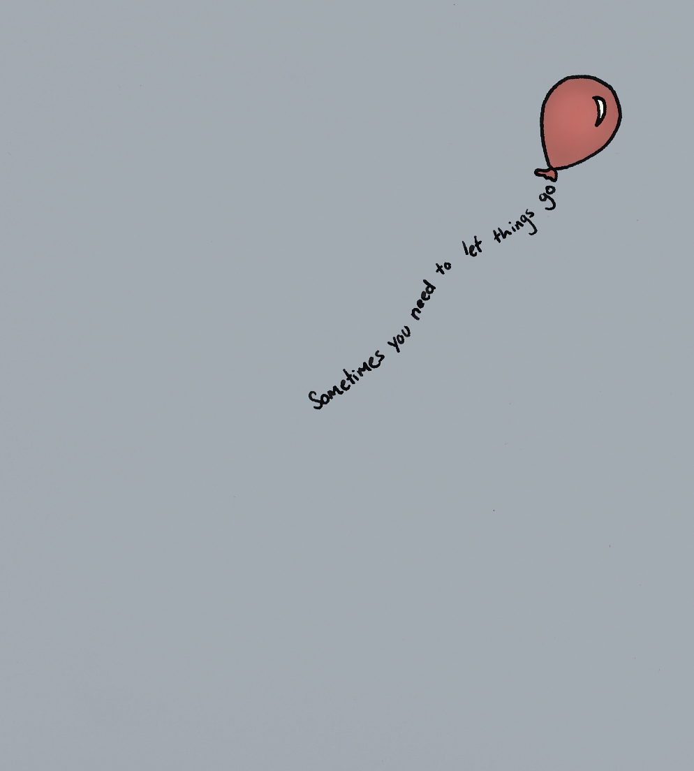 balloon, let go, love, quote, sometimes