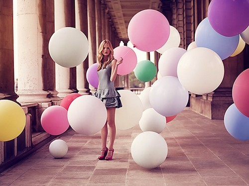 balloons, beautiful, colorful, girl, pretty, skinny