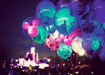 balloons, blue, castle, disney