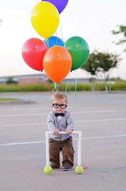 balloons, child, cute, disney, glasses, photography