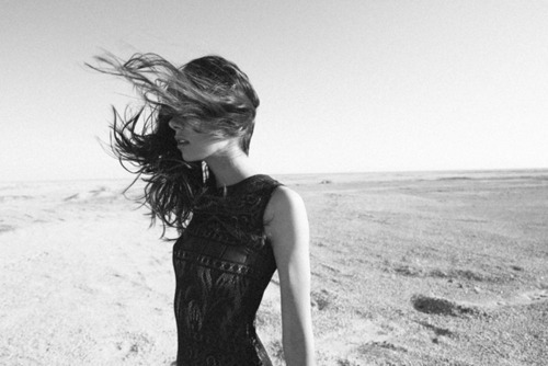 b&w, beach, beautiful, black and white, clothes, fashion, hair, perfect, photography, wind