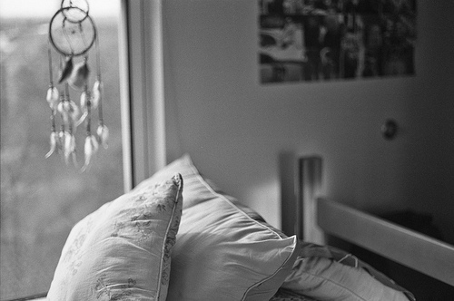 b&amp;w, beautiful, bed, bedroom, black &amp; white