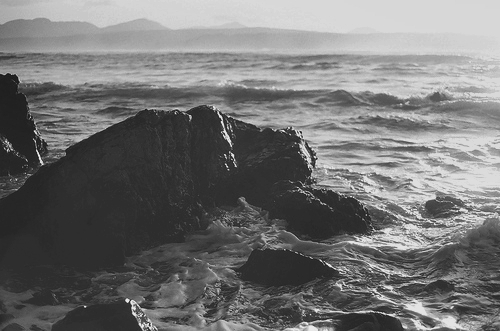 b&w, beautiful, black & white, black and white, cloud, clouds, landscape, nature, photo, photography, place, sea, sky, water