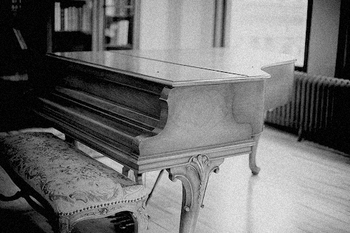 b&w, beautiful, black & white, black and white, cute, photo, photography, piano, place, vintage