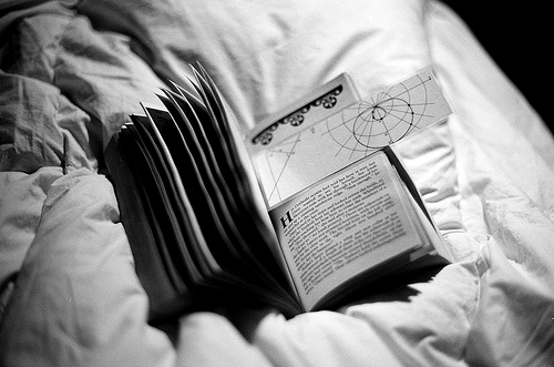 b&w, bed, black & white, black and white, book