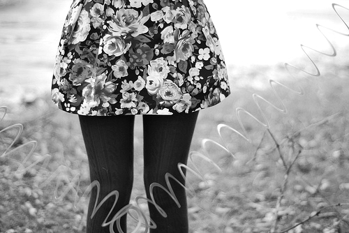 b&w, black & white, black and white, clothe, cute, floral, girl, girly, landscape, nature, photo, photography