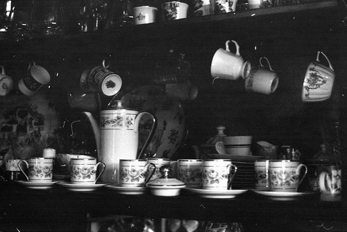 b&w, black & white, black and white, coffee, cup, cute, photo, photography, place, tea, vintage