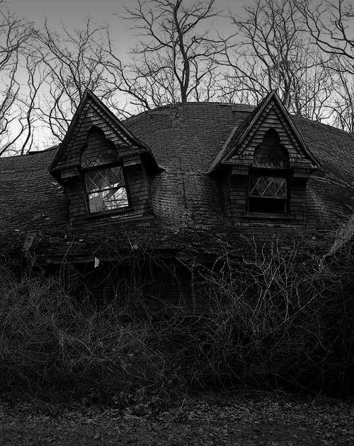 b&w, black & white, black and white, dark, darkness, house, nature, photo, photography, place, sky