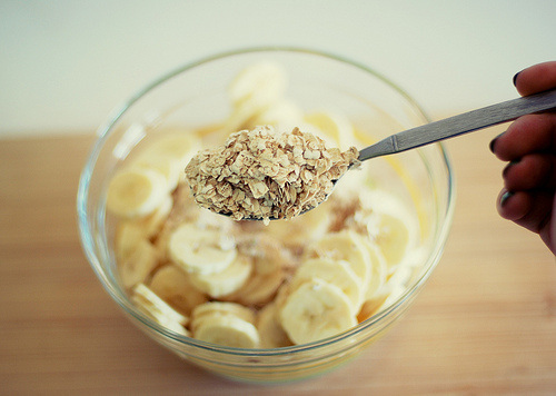 banana, breakfast, cereal, cute, food