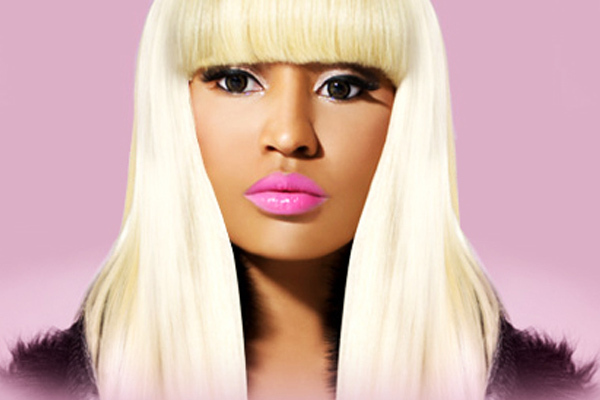 barbie, bitch, blonde, drake, eye, eyes, female, makeup, minaj, nicki, pink, rapper, tan, wig