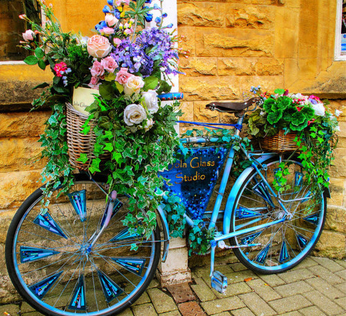basket, bicycle, bike, blue, bohemian, boho, colorful, flowers, original, street