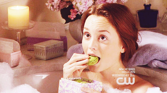 bath, blair, blair waldorf, gossip girl, macarons
