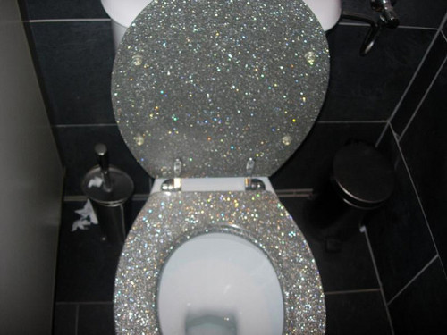 bathroom, beautiful, fashion, glitter, lol, pretty, shimmer, silver, sparkle, style, toilet