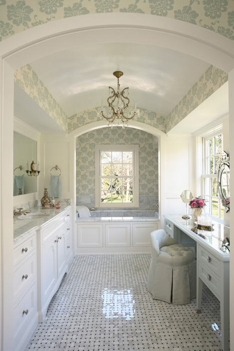 bathroom blue decor girly home image 419256 on