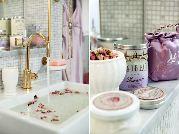 bathroom, chic, french and girly