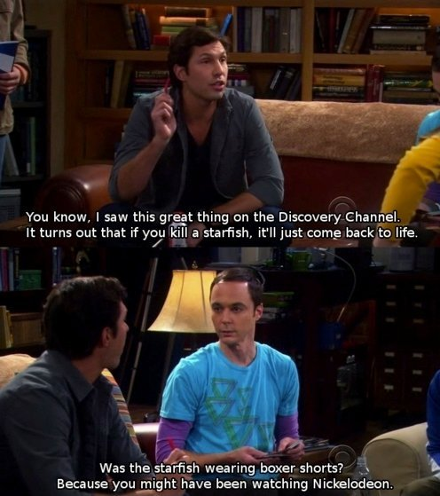 bbt, big bang theory, discovery channel, funny, haha, jim parsons, lol, nickelodeon, sheldon cooper, the big bang theory, zack