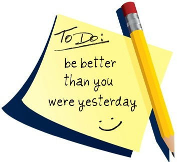 be better, by me, life, list, pen, quote, than you were, to do list, yesterday