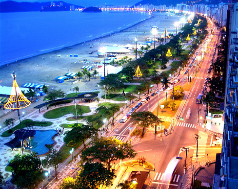 beach, beautiful, blue, brazil, city lights