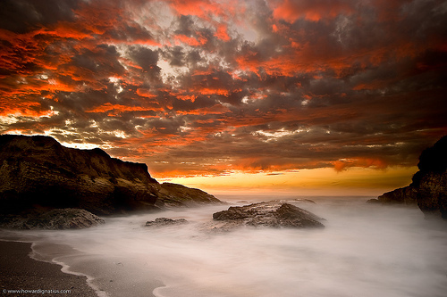 beach, beautiful, clouds, colors, foam