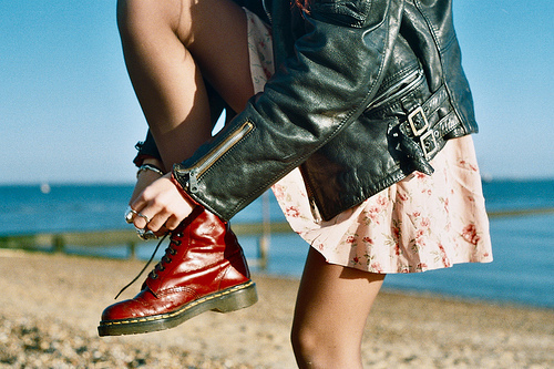 beach, beautiful, cute, doc martens, fashion