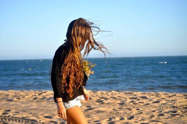 beach, beauty, fashion, girl, hair, love, nature, summer, sun