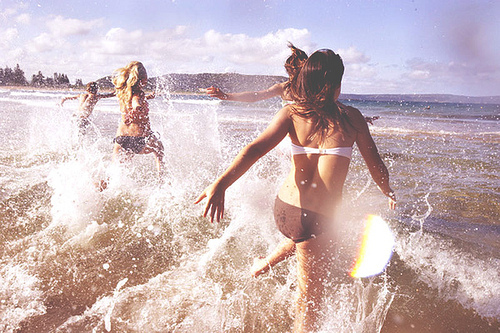 beach, best, besties, friends, girl