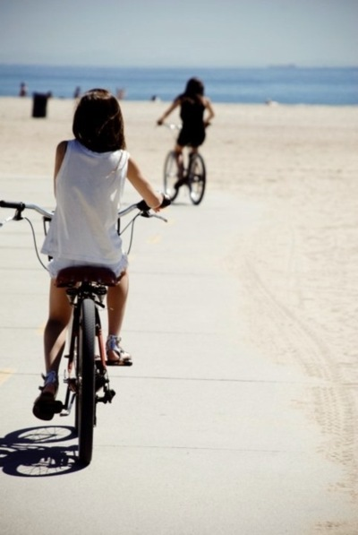 beach, bike, cute, friends, summer