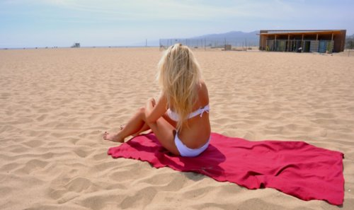 beach, bikini, blonde, girl, love