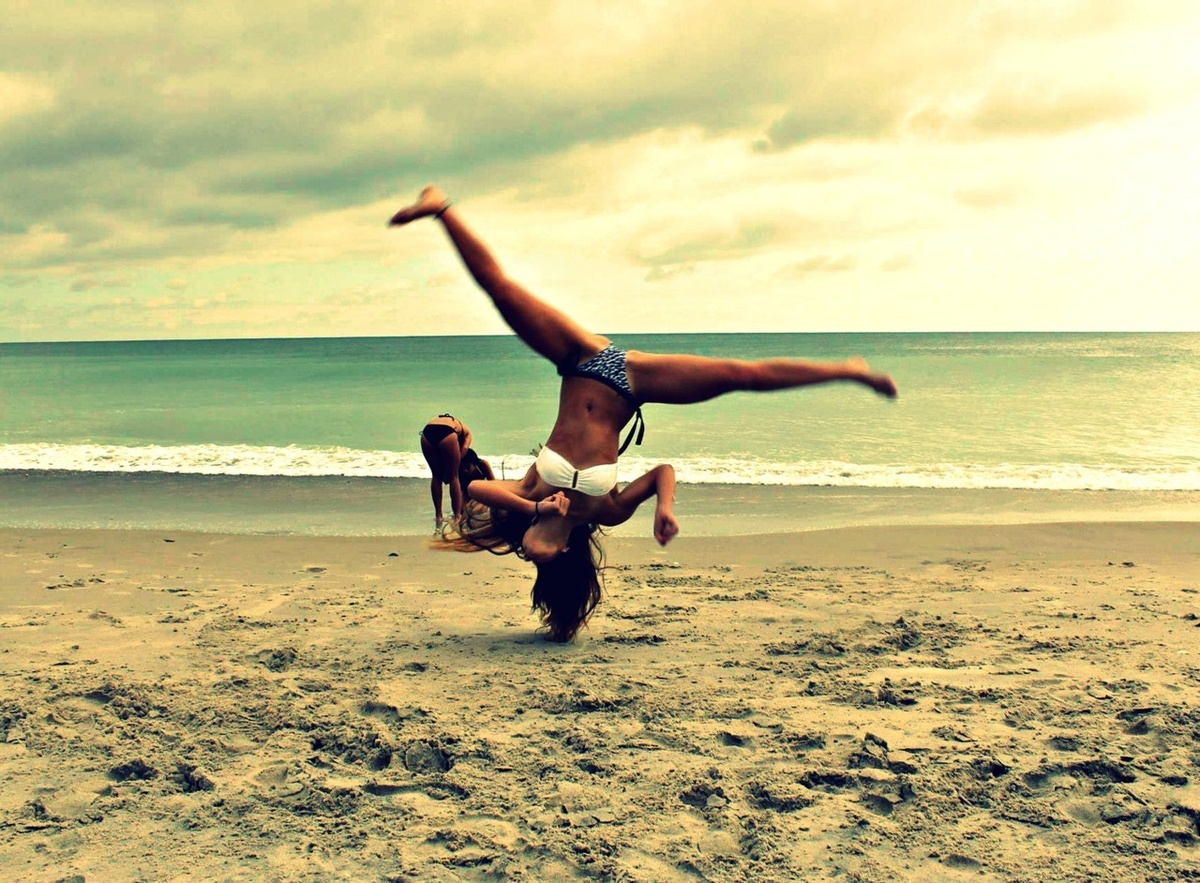 beach, bikini, cheer, gymnastics, summer