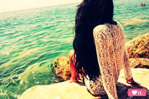 beach, black, fashion, girl, hair, happy, pretty, summer, sunshine