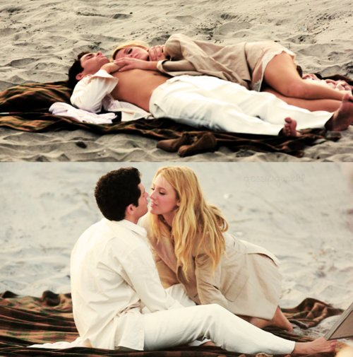beach, blake lively, couple, cute, gossip girl, penn badgley