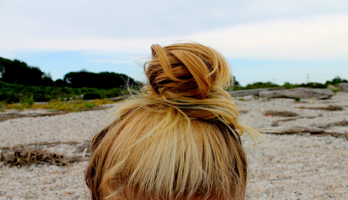beach, blond, blonde, bun, cute
