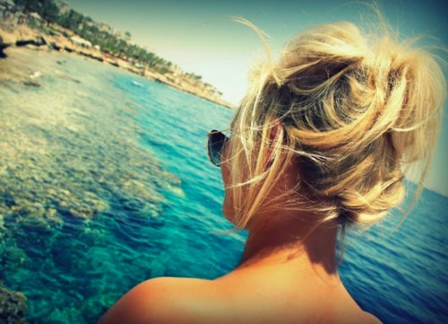 beach, blonde, blue, fun, summer