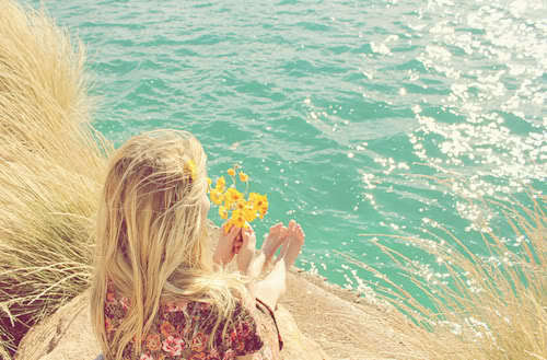 beach, blonde, girl, love, ocean, sea, summer