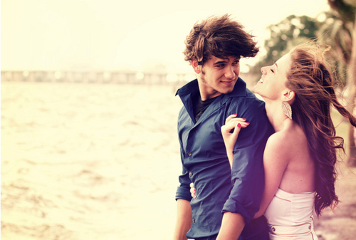 beach, boy, couple, cute, dress