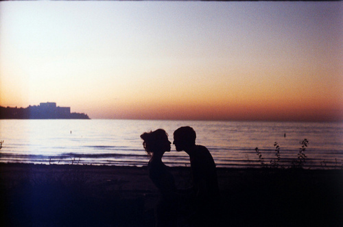 beach, boy, couple, cute, girl, kiss, photography