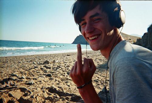 beach, boy, cute, fuck, fuck you, hipster, hunk, indie, music, pretty, smile, smiling