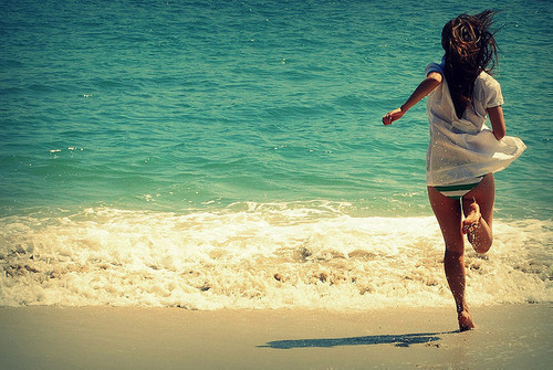 beach, brunette, girl, love, sea, summer