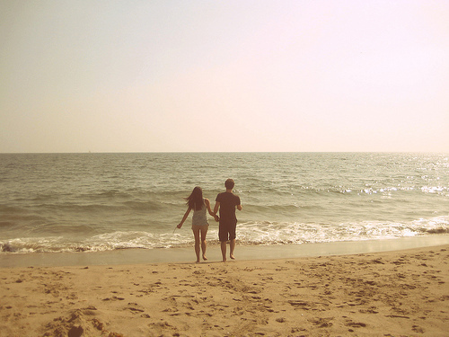 beach, couple, crazy, cute, fashion