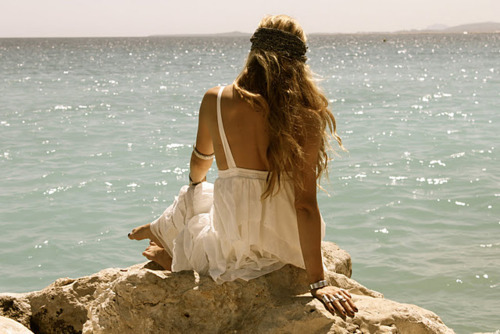 beach, cute, dress, fashion, girl, love, ocean, sea, summer