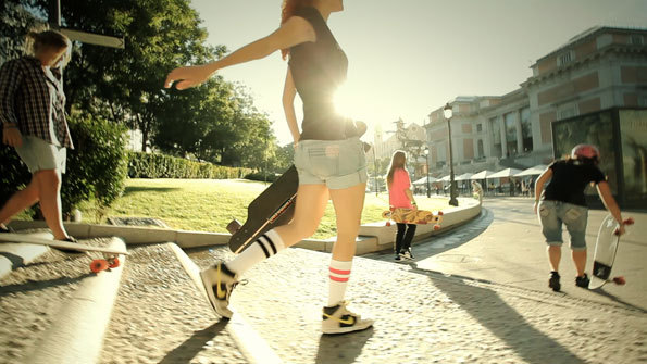 beach, cute, fashion, girls , longboard
