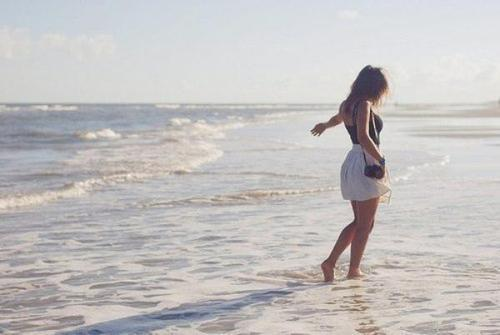 beach, dress, fashion, free, girl, photo, sea, tender, ximenaflorez