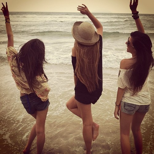 beach, fashion, friends, fun, girl, sea