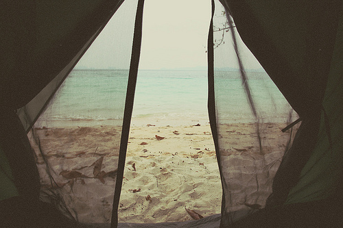 beach, freedom, nomad, sand, sea, silence, tent