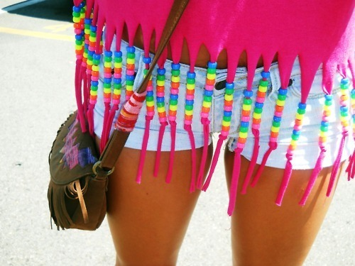 beach, girl, jeans, love, pearls, pink, shirt, shorts, summer