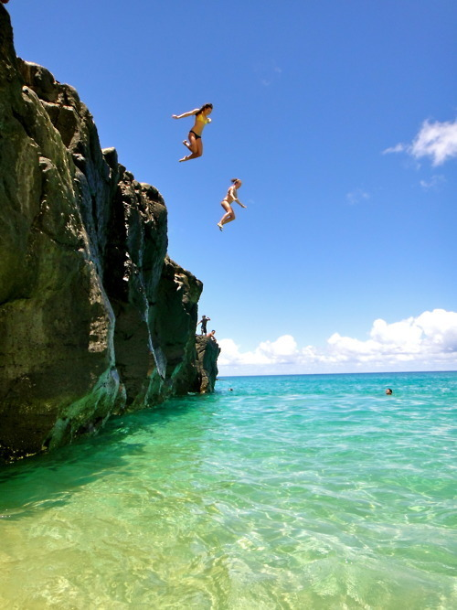 beach, girl, jump, sky, travel
