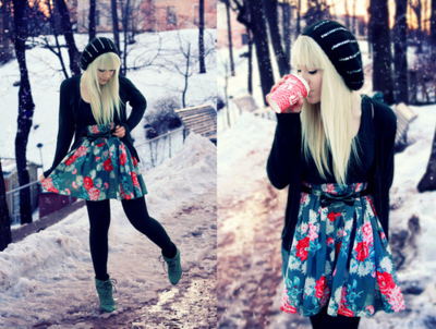beanie, beautiful, blonde, boots, coffee