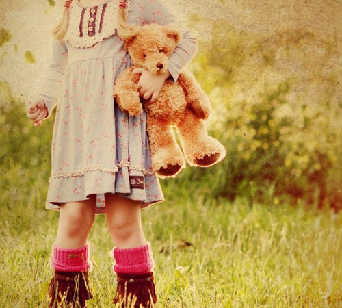 bear, children, cute, girl, kid
