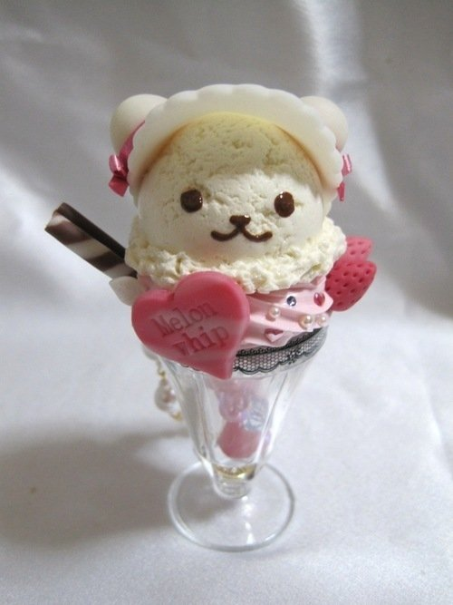 bear, cute, food, ice cream, kawaii, lovely, pretty, rilakkuma, teddy bear