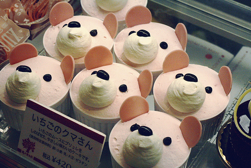 bear, cute, food, japan, kawaii, oishii, pastry, photography, pink, sweets